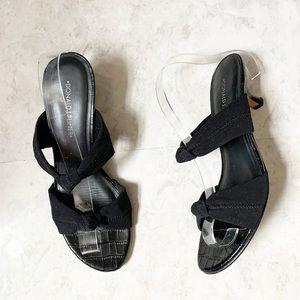 Donald J Pliner Rachi Low Heel Sandals Black 8.5